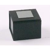 Cardboard box with silver closur