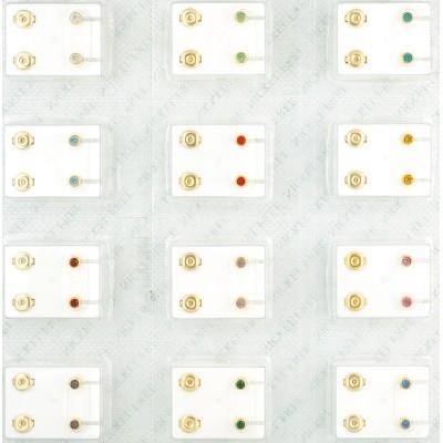 Knöpfe mit bunten Steinen in 12 Farben - J. Schmalz