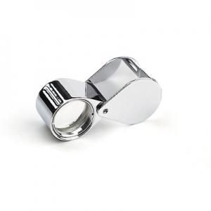Steinlupen Ø 18 mm gummiarmiert chrom