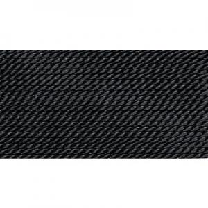 schwarz 100% Natur-Seide farbig mit 1 Nadel, Länge: 2m