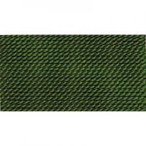 grün 100% Natur-Seide farbig mit 1 Nadel, Länge: 2m