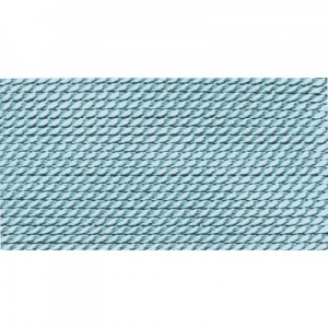 türkis 100% Natur-Seide farbig mit 1 Nadel, Länge: 2m
