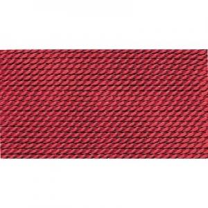 granatrot 100% Natur-Seide farbig mit 1 Nadel, Länge: 2m