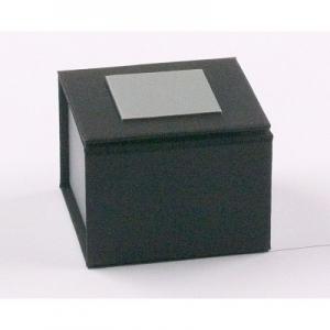 Ringetui Schwarz / Silber 50 x 50 x 35 mm