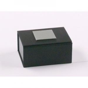 Trauringetui Schwarz / Silber 50 x 70 x 30 mm