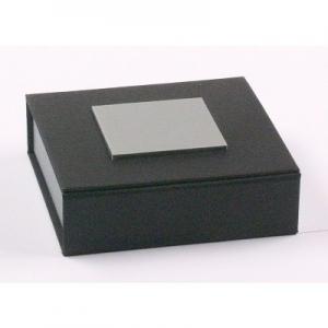 Universaletui, groß Schwarz / Silber 85 x 85 x 22 mm