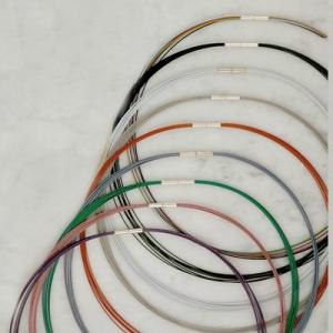Schmuckreifen 8-fach aus Stahlseil, ummantelt mit Bajonettversch